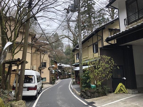 貴船神社の駐車場