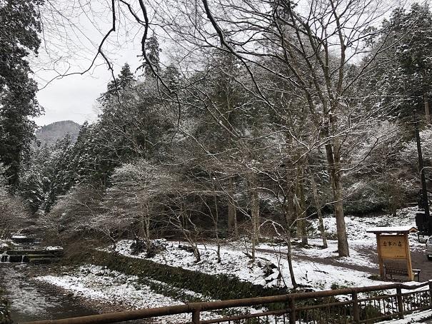 貴船神社冬の景色