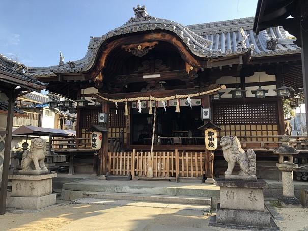 門真神社 拝殿