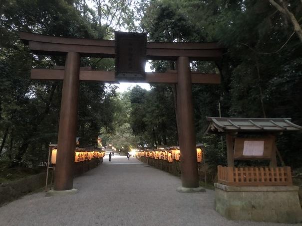 石上神宮のアクセス 大鳥居