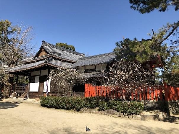 大阪有形文化財の社殿 佐太天神宮