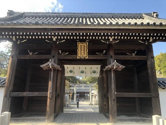 県指定の重要文化財「南大門」