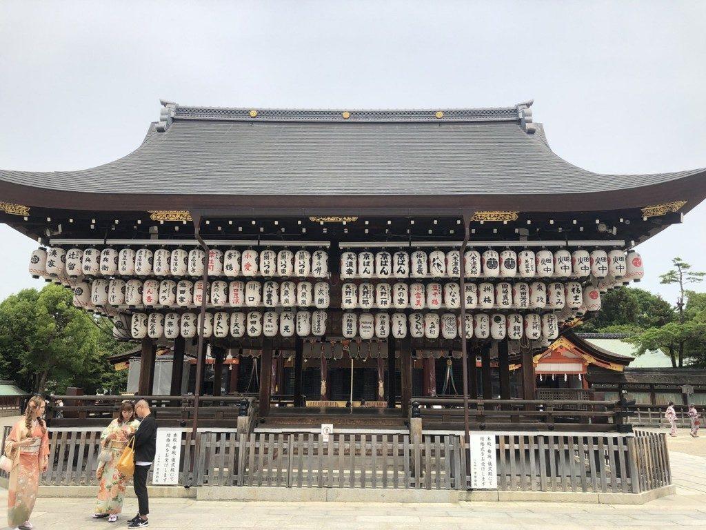 京都八坂神社の舞殿