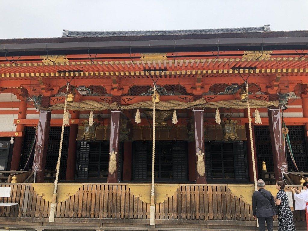 京都八坂神社の本殿