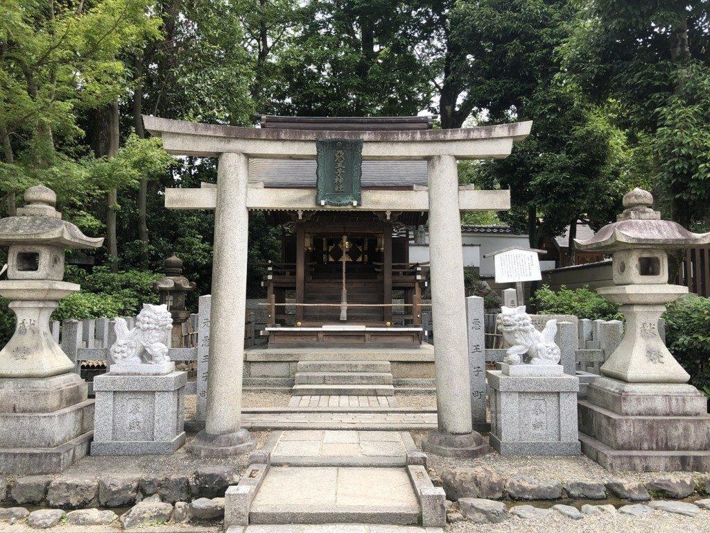 京都八坂神社の悪王子社