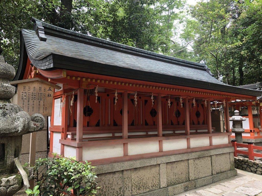 京都八坂神社の五社