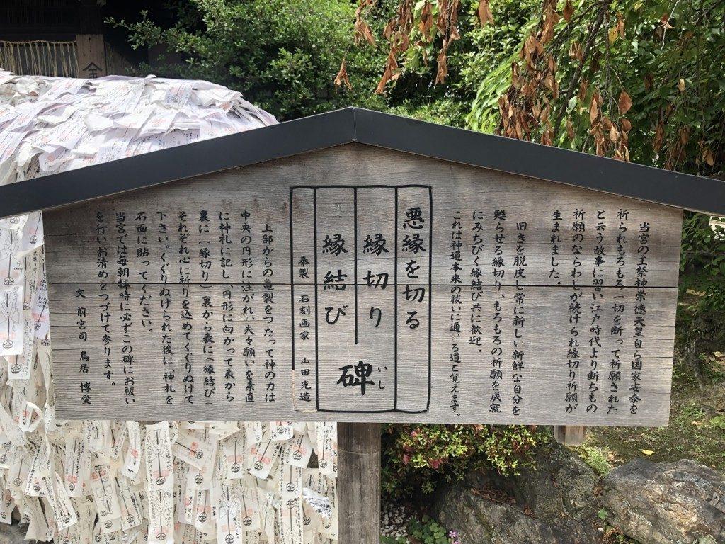 安井金比羅宮の悪縁切り碑