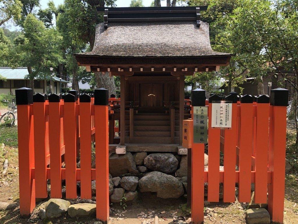 京都上賀茂神社の末社梶田神社