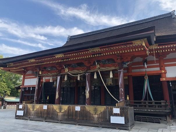 京都八坂神社 拝殿