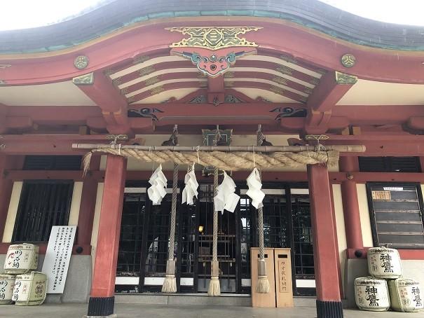 稲爪神社 拝殿