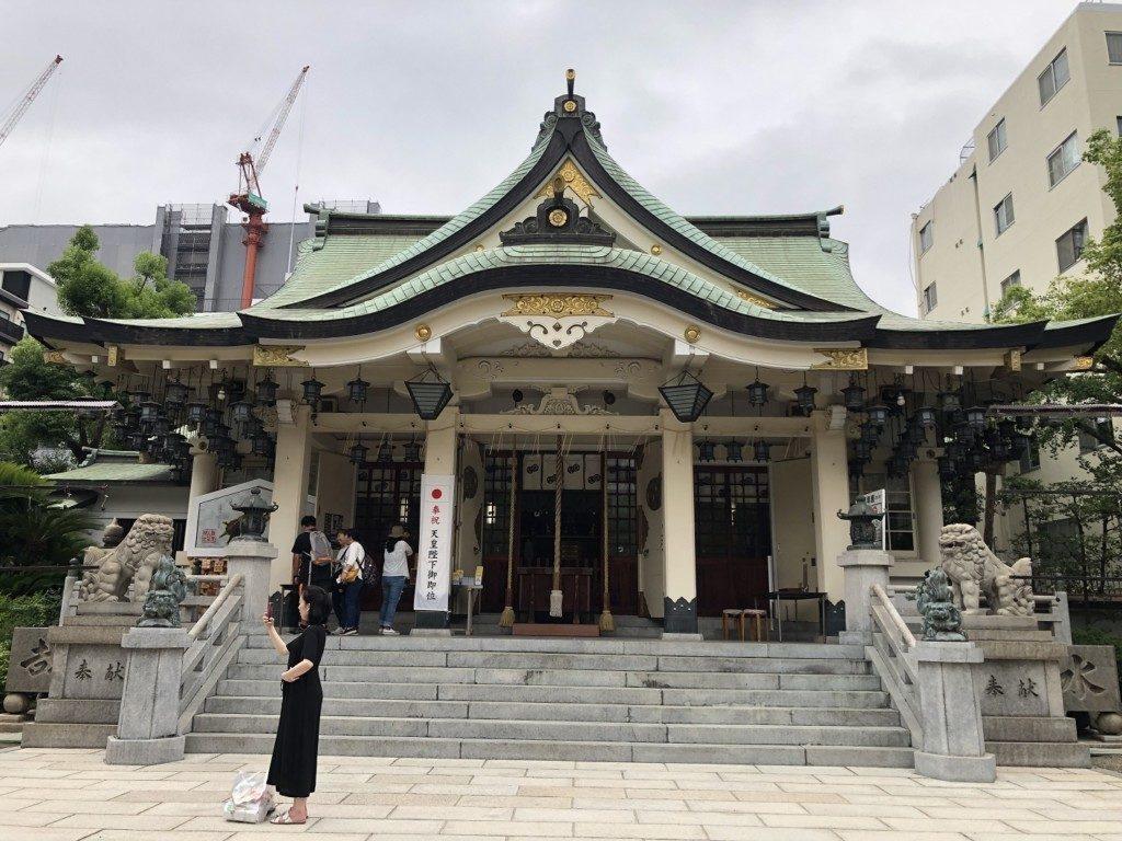 難波八坂神社の拝殿