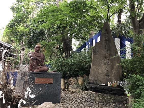 安居神社 真田幸村像