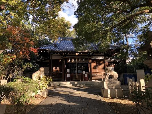 安居神社 社殿