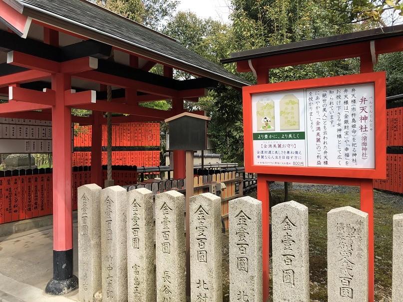 弁天神社は弁天様を祀る神社で「金銀財宝」や「幸福」のご利益があります。
