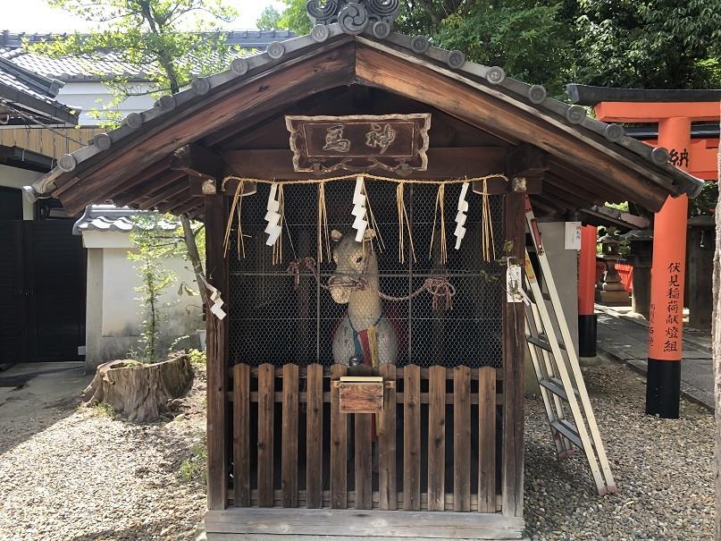 御香宮神社神馬舎