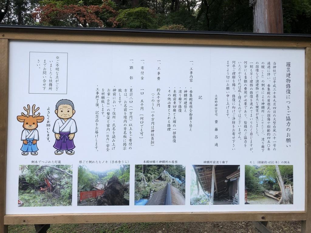 大原野神社被害