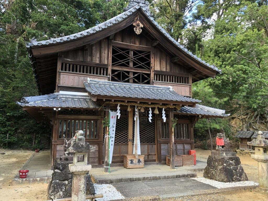 走田神社 拝殿