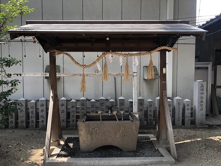 高瀬神社 手水舎