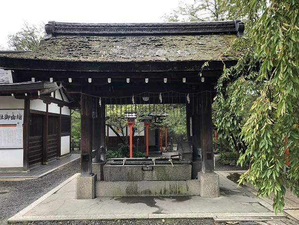 平野神社 手水舎