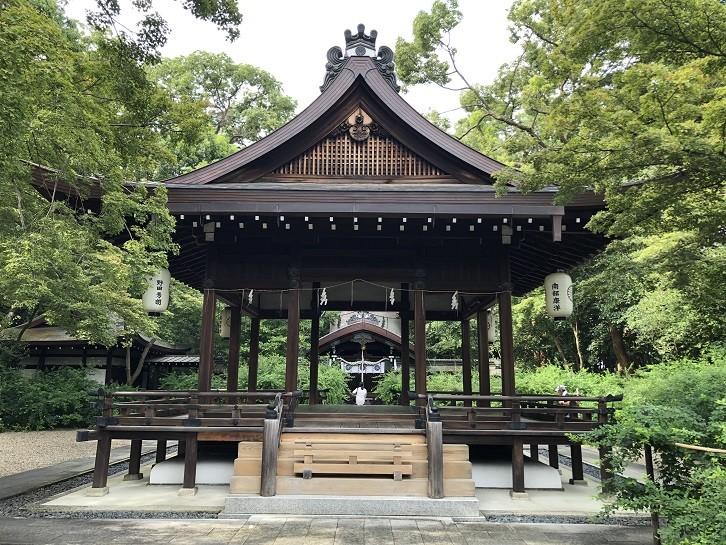 梨木神社 舞殿