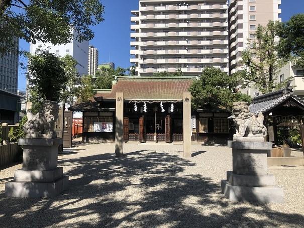 廣田神社 狛犬&注連柱