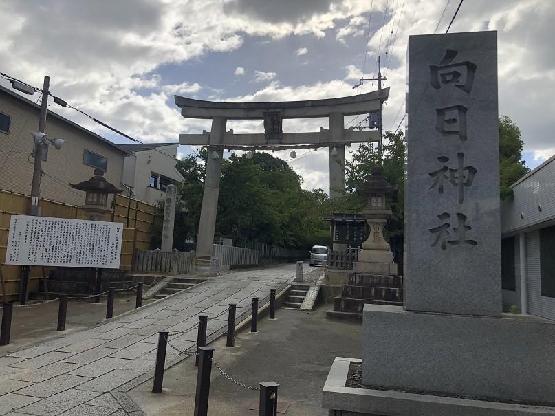 春は桜のトンネルが咲き誇る「向日神社」
