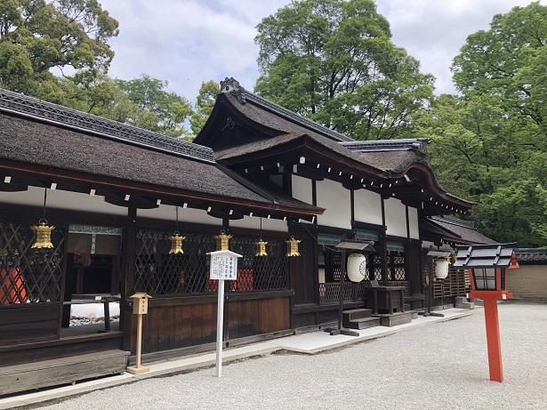 下鴨神社の式年遷宮で建て替えられた「社殿」河合神社