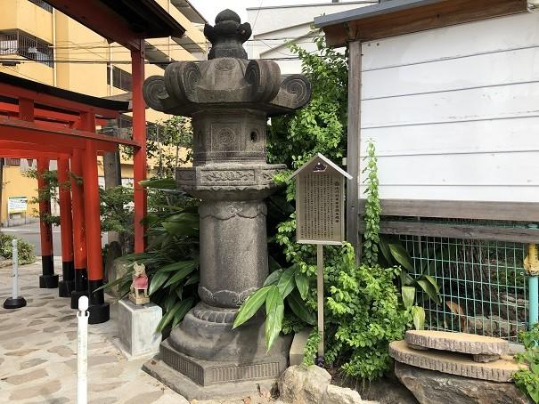 尼崎えびす神社 西日本では稀少な徳川家の霊を祀った石燈籠!