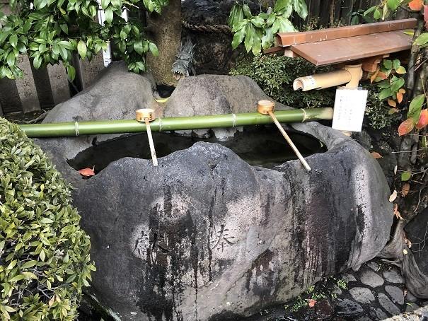 梛神社 手水舎