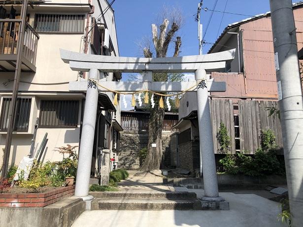 櫟谷七野神社鳥居