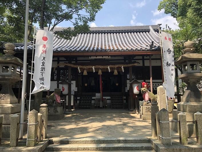 椋橋総社 拝殿