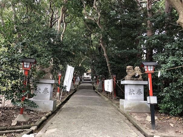 越木岩神社 表参道