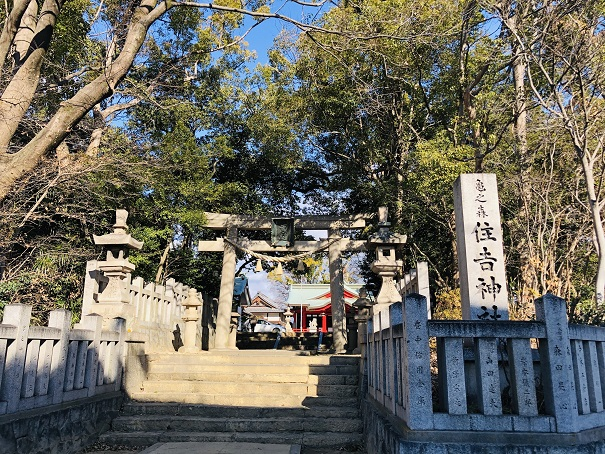 亀之森住吉神社 住吉大神の3柱と神功皇后の3柱のご祭神を祀る神社