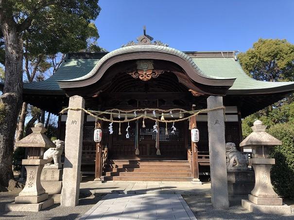 津嶋部神社 拝殿