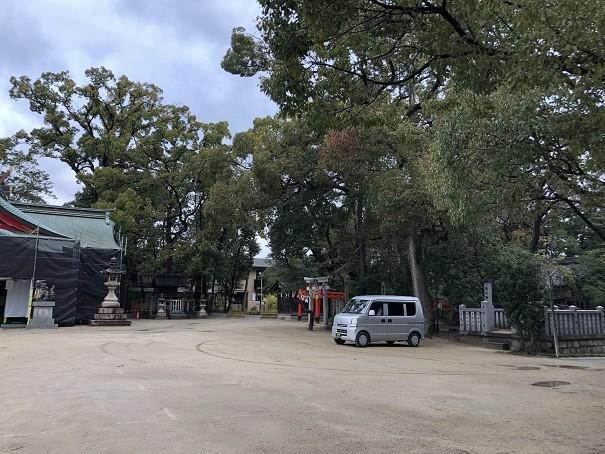 亀之森住吉神社 駐車場