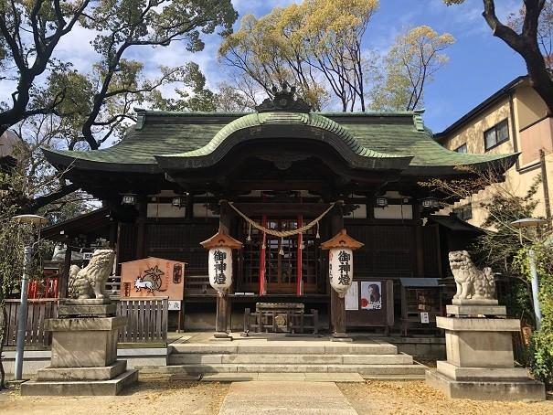 海老江八坂神社 拝殿