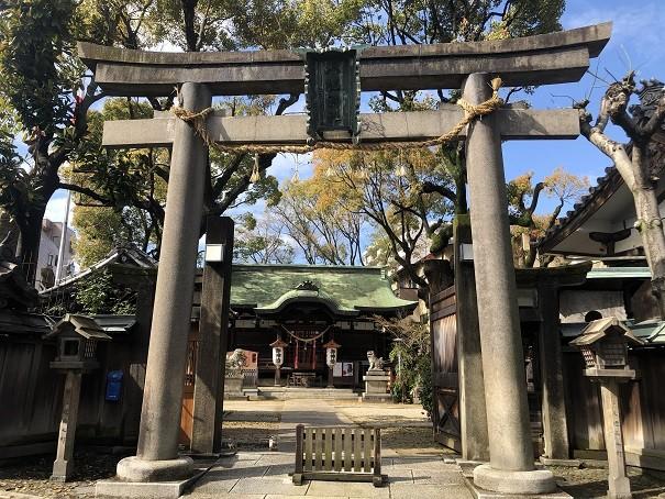 海老江八坂神社 鳥居