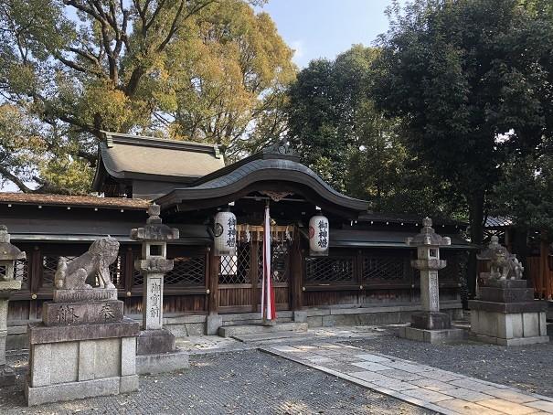 京都田中神社 拝殿