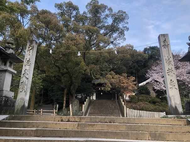 東雲神社 注連柱