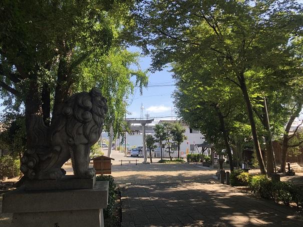三栖神社の境内の雰囲気
