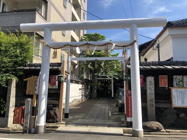 最高神の天照大御神をお祀りする高松神明神社の歴史