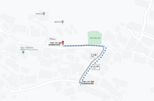 出町柳駅から約1時間のアクセス(電車→バス)