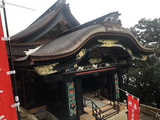 唐門・観音堂・舟廊下を通って竹生島神社へ