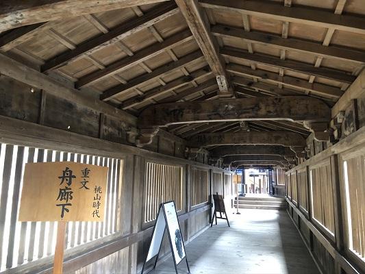 重要文化財の「舟廊下」 竹生島