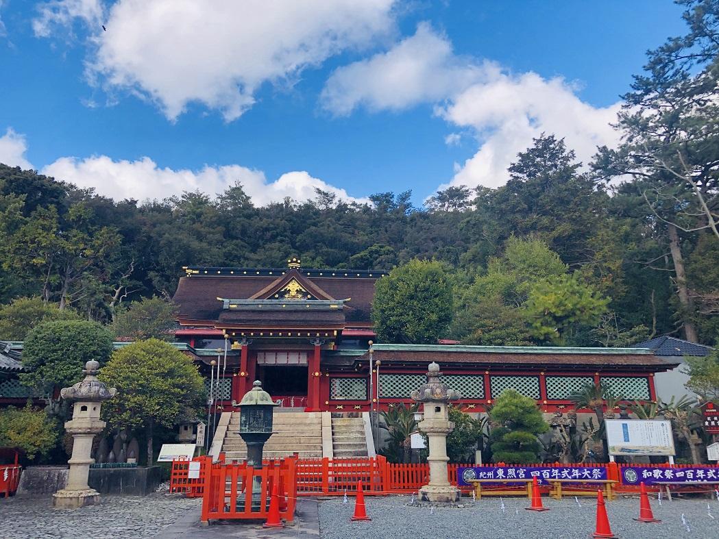 紀州東照宮の徳川家康公がお祀りされている社殿