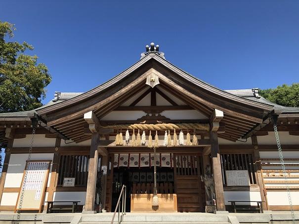 素戔嗚尊をお祀りする社殿田中神社