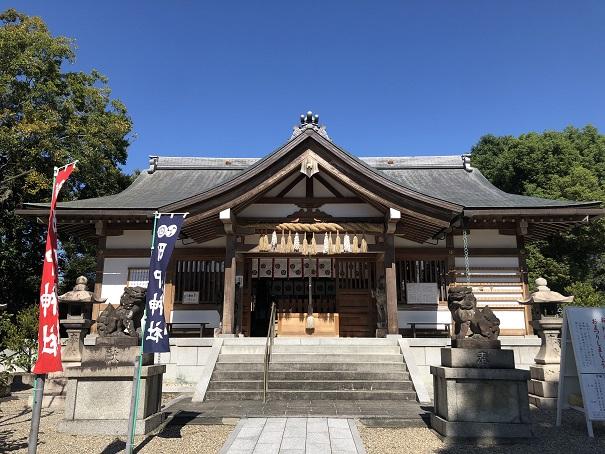 素戔嗚尊をお祀りする社殿 田中神社