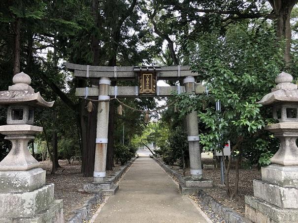 別名田中神社と称される式内社「天穂日命神社」鳥居