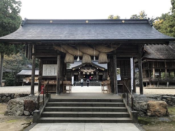 熊野大社(くまのたいしゃ)出雲国一之宮 門