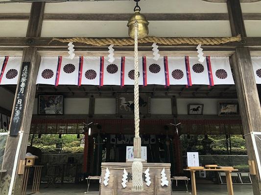 罔象女神がお祀りされている社殿 丹生川上神社中社